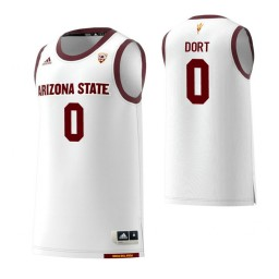 Women's Arizona State Sun Devils #0 Luguentz Dort White Authentic College Basketball Jersey