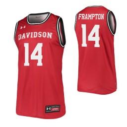 Davidson Wildcats #14 Luke Frampton Red Authentic College Basketball Jersey