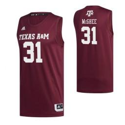 Women's Texas A&M Aggies #31 Luke McGhee Maroon Authentic College Basketball Jersey