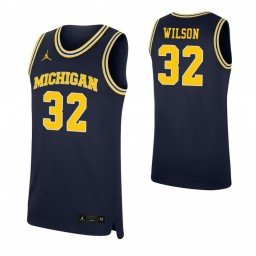 Youth Luke Wilson Authentic College Basketball Jersey Navy Michigan Wolverines
