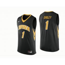 Iowa Hawkeyes #1 Maishe Dailey Authentic College Basketball Jersey Black