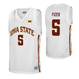 Iowa State Cyclones #5 Marcus Fizer White Authentic College Basketball Jersey