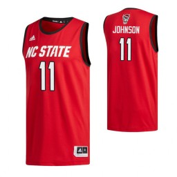 Youth NC State Wolfpack #11 Markell Johnson Red Authentic College Basketball Jersey