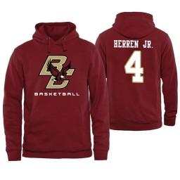 Boston College Eagles #4 Chris Herren Jr. Maroon Basketball Hoodie