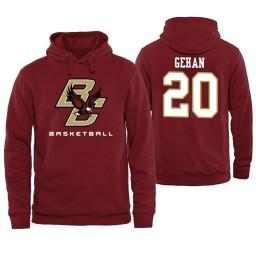 Boston College Eagles #20 Gordon Gehan Maroon Basketball Hoodie