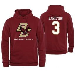 Boston College Eagles #3 Jared Hamilton Maroon Basketball Hoodie
