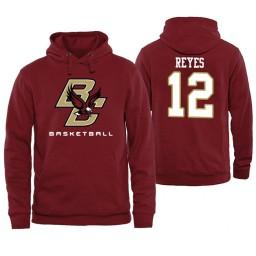 Boston College Eagles #12 Johncarlos Reyes Maroon Basketball Hoodie