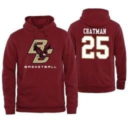 Boston College Eagles #25 Jordan Chatman Maroon Basketball Hoodie