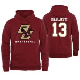 Boston College Eagles #13 Luka Kraljevic Maroon Basketball Hoodie
