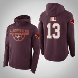 Virginia Tech Hokies #13 Ahmed Hill Men's Maroon Elite College Basketball Hoodie
