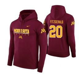 Minnesota Golden Gophers #20 Davonte Fitzgerald Men's Maroon College Basketball Hoodie