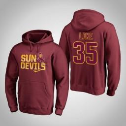 Arizona State Sun Devils #35 De'Quon Lake Men's Maroon Team Hometown Collection Pullover Hoodie