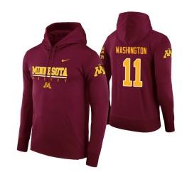 Minnesota Golden Gophers #11 Isaiah Washington Men's Maroon College Basketball Hoodie