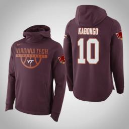 Virginia Tech Hokies #10 Jonathan Kabongo Men's Maroon Elite College Basketball Hoodie