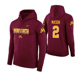 Minnesota Golden Gophers #2 Nate Mason Men's Maroon College Basketball Hoodie