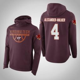 Virginia Tech Hokies #4 Nickeil Alexander-Walker Men's Maroon Elite College Basketball Hoodie
