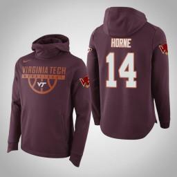 Virginia Tech Hokies #14 P.J. Horne Men's Maroon Elite College Basketball Hoodie