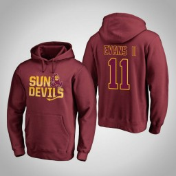 Arizona State Sun Devils #11 Shannon Evans II Men's Maroon Team Hometown Collection Pullover Hoodie