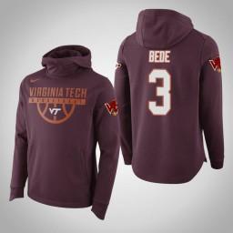 Virginia Tech Hokies #3 Wabissa Bede Men's Maroon Elite College Basketball Hoodie