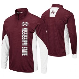 Mississippi State Bulldogs Maroon Bart Windshirt Pullover Jacket