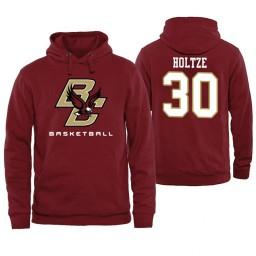 Boston College Eagles #30 Sam Holtze Maroon Basketball Hoodie