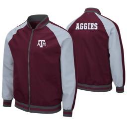 Texas A&M Aggies Maroon Kent Full-Zip Bomber Jacket