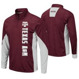 Texas A&M Aggies Maroon Bart Windshirt Pullover Jacket