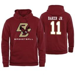 Boston College Eagles #11 Vin Baker Jr. Maroon Basketball Hoodie
