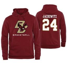 Boston College Eagles #24 Will Jackowitz Maroon Basketball Hoodie