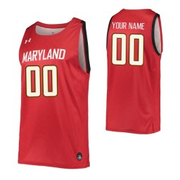 Maryland Terrapins Replica Custom Jersey Red