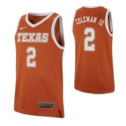 Youth Matt Coleman III Authentic College Basketball Jersey Texas Orange Texas Longhorns