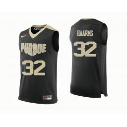 Purdue Boilermakers #32 Matt Haarms Authentic College Basketball Jersey Black