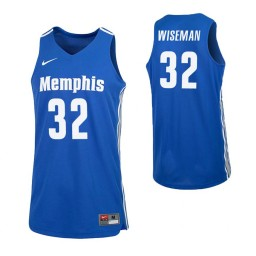 Women's Memphis Tigers #32 James Wiseman Royal Authentic College Basketball Jersey