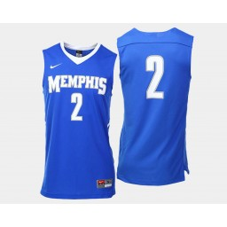 Women's Memphis Tigers #2 Shaq Goodwin Blue Road Authentic College Basketball Jersey