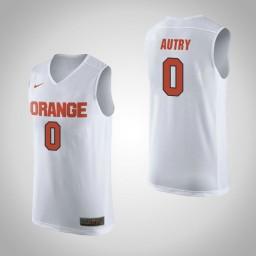 Women's Syracuse Orange #0 Adrian Autry Authentic College Basketball Jersey White