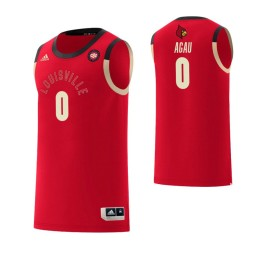 Women's Louisville Cardinals #0 Akoy Agau Harlem Renaissance Authentic College Basketball Jersey Red