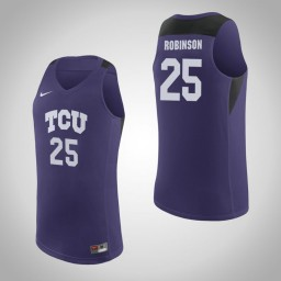 Youth TCU Horned Frogs #25 Alex Robinson Authentic College Basketball Jersey Purple