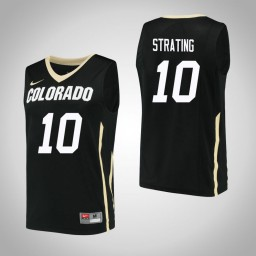 Women's Colorado Buffaloes #10 Alexander Strating Authentic College Basketball Jersey Black