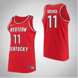 Western Kentucky #11 Alexis Brewer Performance Authentic College Basketball Jersey Red