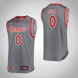 Women's St. John'S Red Storm #0 Alisha Kebbe Authentic College Basketball Jersey Gray