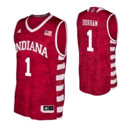 Indiana Hoosiers #1 Aljami Durham Crimson Authentic College Basketball Jersey