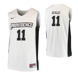 Women's Providence Friars #11 Alpha Diallo Authentic College Basketball Jersey White
