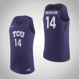 Youth TCU Horned Frogs #14 Angus McWilliam Authentic College Basketball Jersey Purple