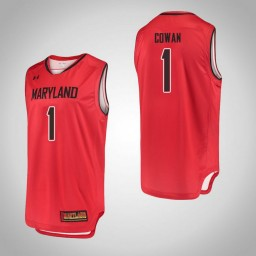Women's Maryland Terrapins #1 Anthony Cowan Authentic College Basketball Jersey Red