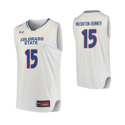 Youth Colorado State Rams #15 Anthony Masinton-Bonner Authentic College Basketball Jersey White