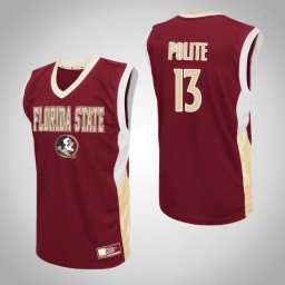 Florida State Seminoles #13 Anthony Polite Fadeaway Authentic College Basketball Jersey Red