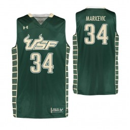 South Florida Bulls #34 Antun Maricevic Authentic College Basketball Jersey Green