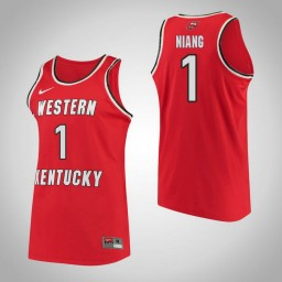 Western Kentucky #1 Arame Niang Performance Authentic College Basketball Jersey Red