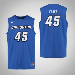 Youth Creighton Bluejays #45 Audrey Faber Authentic College Basketball Jersey Royal