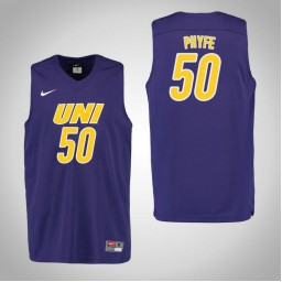 Youth Northern Iowa Panthers #50 Austin Phyfe Authentic College Basketball Jersey Purple